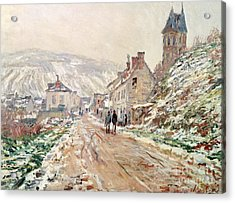 Road In Vetheuil In Winter Acrylic Print by Claude Monet