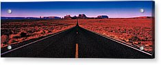 Road Monument Valley Tribal Park Ut Usa Acrylic Print by Panoramic Images