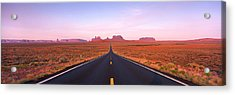 Road Monument Valley, Utah, Usa Acrylic Print by Panoramic Images