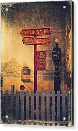 Road Signs Acrylic Print by Maria Angelica Maira