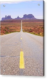 Road To Monument Valley. Acrylic Print by Mark Williamson