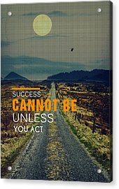Road To Success Acrylic Print by Celestial Images