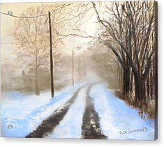 Road To The Ice House Acrylic Print by Jack Skinner
