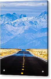 Road To The Mountains Acrylic Print by Alexis Birkill