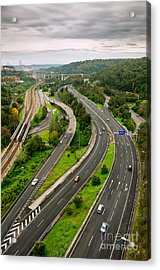 Roads Top View Acrylic Print by Carlos Caetano