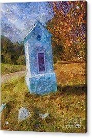 Roadside Shrine Acrylic Print by Mo T