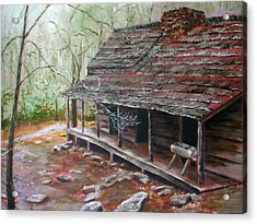 Roaring Fork Cabin Acrylic Print by Sherry Robinson