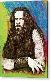 Rob Zombie Stylised Pop Art Drawing Sketch Portrait Acrylic Print by Kim Wang