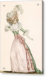Robe De La Czarine, Plate From Galeries Acrylic Print by Jean Florent Defraine