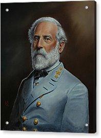 Robert E. Lee Acrylic Print by Glenn Beasley