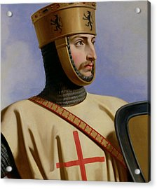 Robert II Le Hierosolymitain Count Of Flanders Acrylic Print by Henri Decaisne