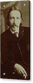 Robert Louis Stevenson Acrylic Print by English School