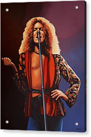 Robert Plant Of Led Zeppelin Acrylic Print by Paul Meijering