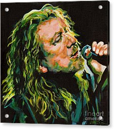 Robert Plant 40 Years Later Like Never Been Gone Acrylic Print by Tanya Filichkin