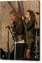 Robert Plant And Patty Griffin Acrylic Print by Bill Gallagher