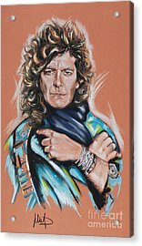Robert Plant Acrylic Print by Melanie D