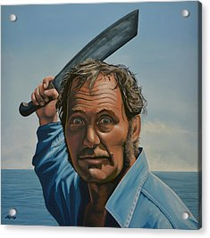 Robert Shaw In Jaws Acrylic Print by Paul Meijering