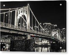 Roberto Clemente Bridge Acrylic Print by Kyle Nagle