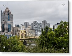 Roberto Clemente Bridge Pittsburgh Pa Acrylic Print by Terry DeLuco
