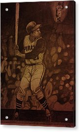 Roberto Clemente Acrylic Print by Christy Saunders Church