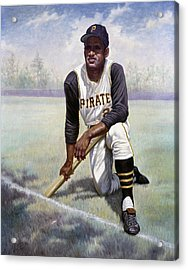 Roberto Clemente Acrylic Print by Gregory Perillo