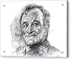 Robin Williams Acrylic Print by Ylli Haruni