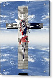 Robotic Christ Made In Spain Acrylic Print by Quim Abella