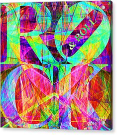 Rock And Roll 20130708 Fractal Acrylic Print by Wingsdomain Art and Photography