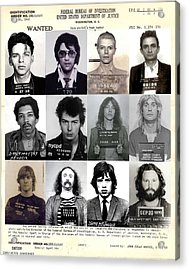 Rock And Roll's Most Wanted - Part II Acrylic Print by Lee Dos Santos