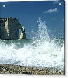 Rock Arch. Etretat. Seine-maritime. Normandy. France. Europe Acrylic Print by Bernard Jaubert