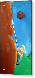 Rock Climber Acrylic Print by Jera Sky