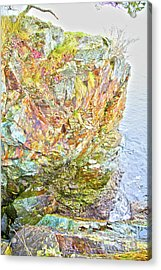 Rock Colour Acrylic Print by Graham Foulkes