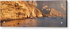 Rock Formations At Coast, El Dedo De Acrylic Print by Panoramic Images