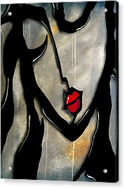 Rock Girl Acrylic Print by Tom Fedro - Fidostudio