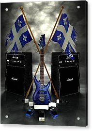 Rock N Roll Crest - Quebec Acrylic Print by Frederico Borges