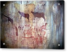 Rock Painting Acrylic Print by Photostock-israel