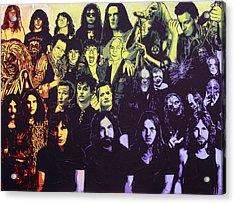 Rock Triptych - Panel C Acrylic Print by Bobby Zeik