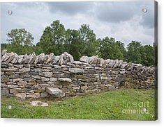 Rock Wall Steps Acrylic Print by Kay Pickens