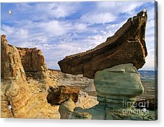 Rock With Triangular Hat Acrylic Print by Inge Johnsson