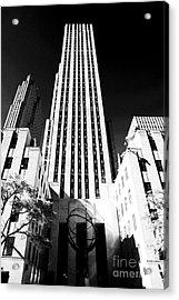Rockefeller Center Acrylic Print by John Rizzuto