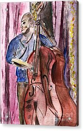 Dancn' Double Bass  Acrylic Print by Elizabeth Briggs