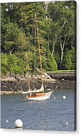 Rockport Maine Sailboat Acrylic Print by Keith Webber Jr