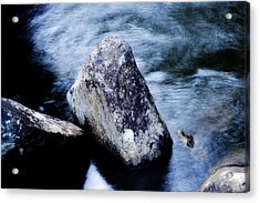 Rocks At The Falls Acrylic Print by Adam LeCroy