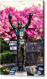 Rocky Among The Cherry Blossoms Acrylic Print by Bill Cannon