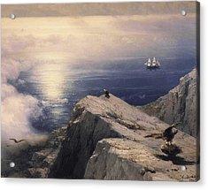 Rocky Coastal Acrylic Print by Ivan Konstantinovich Aivazovsky