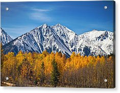 Rocky Mountain Autumn High Acrylic Print by James BO  Insogna