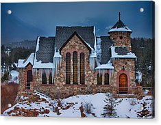 Rocky Mountain Chruch Acrylic Print by Darren  White