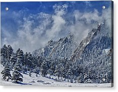 Rocky Mountain Dusting Of Snow Boulder Colorado Acrylic Print by James BO  Insogna