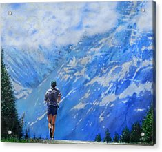 Rocky Mountain Run Acrylic Print by Edward Pollick