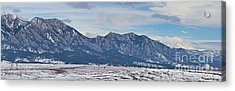 Rocky Mountains Flatirons And Longs Peak Panorama Boulder Acrylic Print by James BO  Insogna